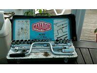 """Vintage Matador No 4122 1/2"""" socket set"""
