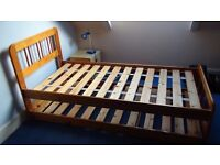 Antique Solid Pine 3ft Bed with pull out Guest Bed
