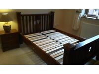 Hand made bespoke chunky bed choice of design and stains