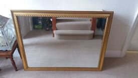 Large Mirror - gilt coloured distressed look