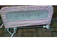 Mothercare pink bed guard for sale