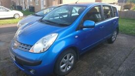 Nissan Note 1.4 petrol 2007 blue