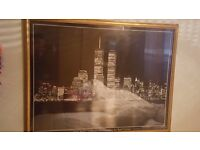 huge new york skyline framed picture by ralf uicker