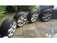 bargain 8x18 Nissan alloy wheels 5x114
