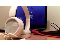 Sony Foldable Headphones - White