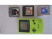 Gameboy color and three games