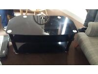 Black TV stand in excellent condition