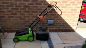Lawnmower rotary blade electric with cable and gas box