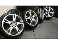 "Momo 17"" 5x100 split rin style alloys + 4 tyres! Ready to fit! Audi seat vw skoda vag toyota"