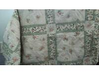 Good quality, professionally made patchwork style bedspread.