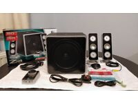 Logitech Z4 2.1 PC Speakers. PARTIALLY WORKING / FOR PARTS