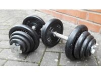 40KG YB CAST IRON DUMBBELL WEIGHTS SET
