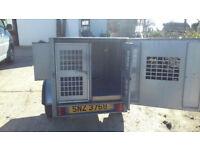 Perfect condition galvanised dog trailer