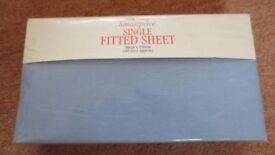 Single Fitted Sheet [Light Blue]