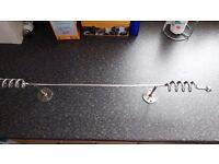 Solid metal towel rail