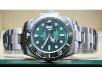 223752299e0 New ROLEX SUBMARINER silver strap green face green ceramic bezel automatic  sweeping movement