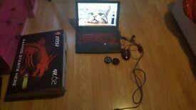 Gaming laptop MSI GL62M 7REX, IPS 15.6, I5-7300HQ, GTX 1050 TI 4 GB VRAM, 16GB DDR4 RAM
