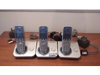 16 x Panasonic office and home phones with hub and cables.