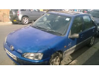 Blue Peugeot 106, **GREAT DRIVE** spares and repare. £280