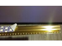 BRAND NEW Carpet Flooring Door Bar Threshold Metal Strip Floor Grip 14ft10in in 2 pieces