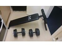Dumbells and sit ups bench