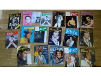 85 x elvis books , annuals , badges , magazines