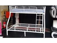 White Metal Bunk Bed For Sale!