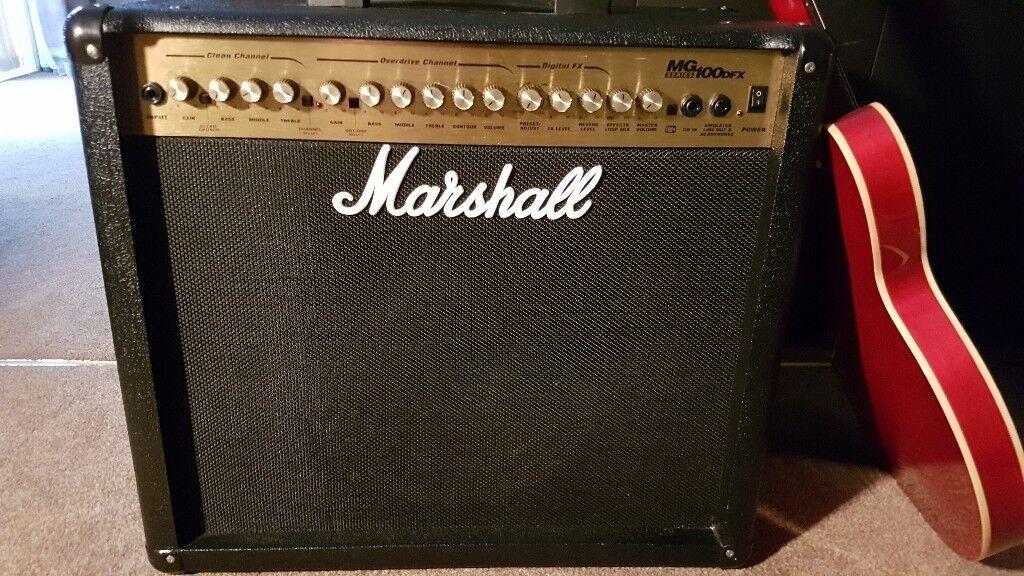 marshall mg100dfx 100 watt combo guitar amplifier mint 100 in kilbarchan renfrewshire gumtree. Black Bedroom Furniture Sets. Home Design Ideas