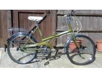 Foldable Vintage Raleigh stowaway shopper bicycle bike