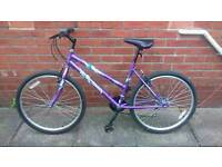 Ladies Active mountain bike 18 inch frame, only used few times good condition and ready to ride