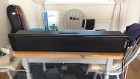 Large Sound Bar and remote and cables
