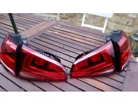 VW Golf Mk7 VII Rear Tail Lights (all 4) -Perfect Condition Genuine Original