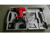 Cordless drill in case