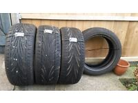 Set of 4 Car Tyres for sale