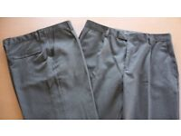 2 pairs of M&S Boys school trousers - charcoal (age 14-15 years)