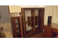 2 piece furniture set. Lamp and shelving unit
