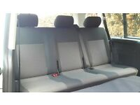Set of triple quick release rear bench seats from a VW Transporter Shuttle 2010, v good condition