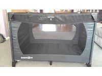 Black cot bed