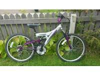 """Girls full suspension bike 24"""" wheels"""