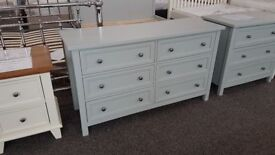 Maine 6 Drawer Wide Chest by Julian Bowen Can Deliver