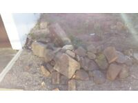 Free boulders ideal for rockery