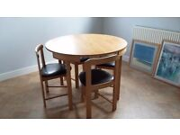 Compact Circular Dining Table & Chairs