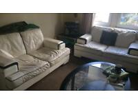 2x 2 white couch