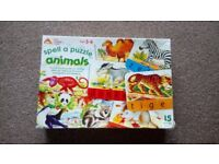 Children's ELC spell a puzzle, animals' 3-6 years