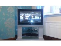"""Panasonic 37"""" Flat screen TV sliver with stand (TH-37PE30) - Ruchazie, Glasgow East End."""