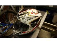 Large shark motorcycle helmet