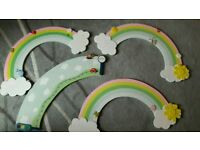 4 children's door signs. Used