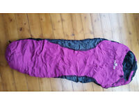 Kids sleeping bag - mummy shape - grey and pink
