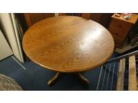 Solid wood round table