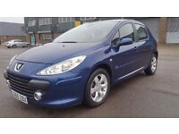 PEUGEOT 307 AUTOMATIC {2006 MODEL} IN EXCELLENT CONDITION. 1 YEAR MOT. 2 PREVIOUS OWNERS. HPI CLEAR